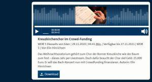UNSER PROJEKT BEI WDR 5